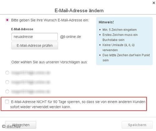 email-adresse trotz providerwechsel behalten