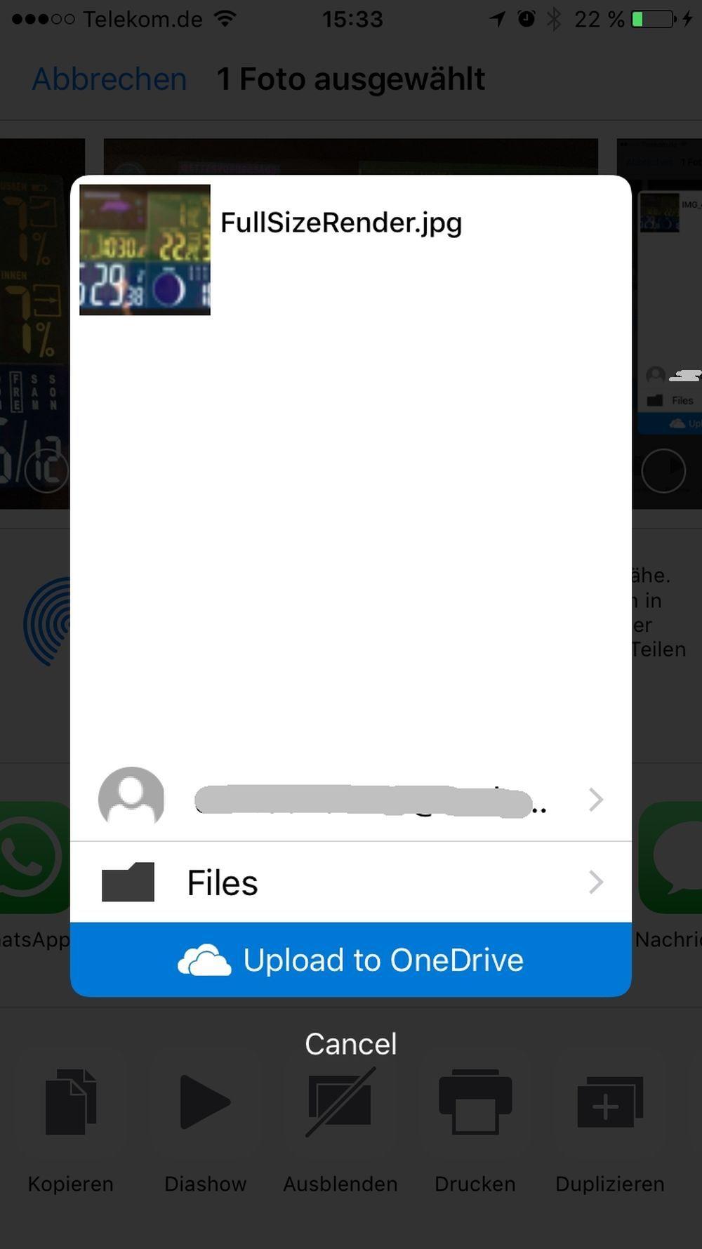 Foto-Chaos unter iOS und mit OneDrive - bearbeitete Datei